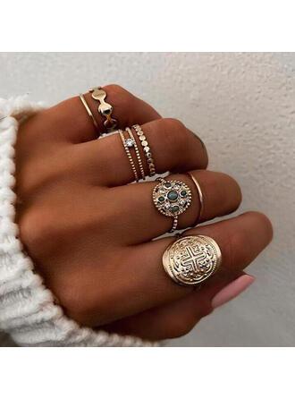 Unik Utsökt Snygg Legering Smycken Sets Ringar (Set av 6 par)