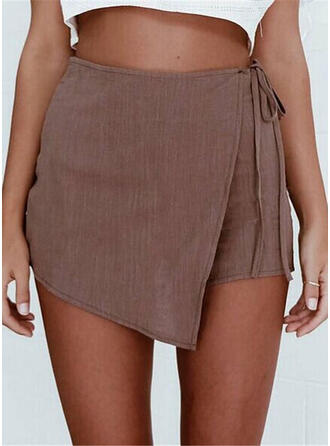 Solid Fritids Shorts