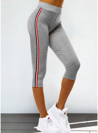 Striped Plus Size Drawstring Casual Sporty Leggings