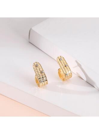 Fashionable Alloy Rhinestones With Rhinestone Women's Ladies' Earrings