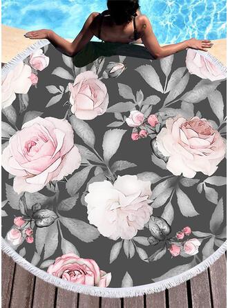Blommig attraktiv handduk