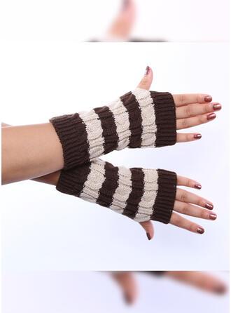Randig/Söm/Virka andas/Flera-färg Handskar