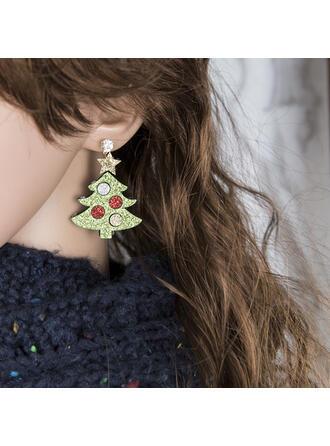 Färgglada Klassisk stil Jul Duk Legering med Strass Kvinnor örhängen 2 st