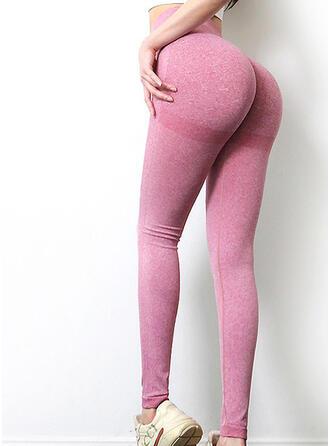 Chinlon Plain Yoga/fitness pants Moisture wicking