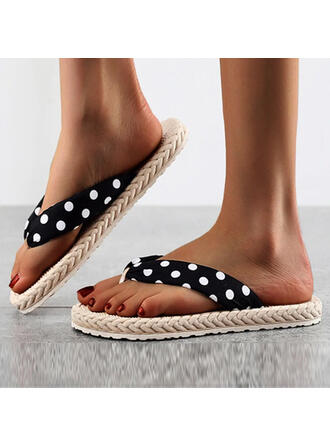 Women's EVA Flat Heel Sandals Flats Peep Toe Flip-Flops Slippers With Hollow-out Dot shoes