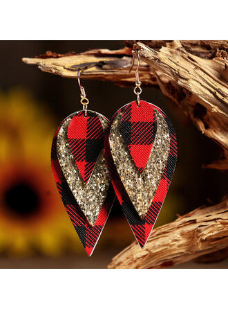 Pretty Layered Christmas PU Women's Earrings 2 PCS