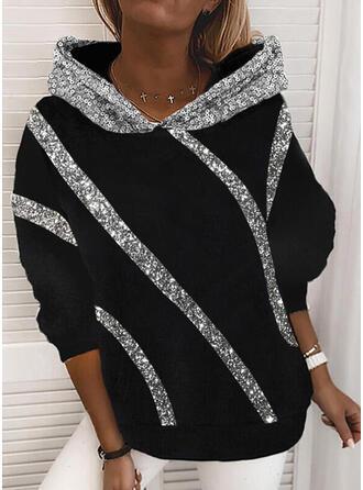 Sequins Long Sleeves Hoodie