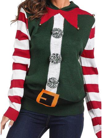 Kvinnor polyester Rand Ugly Christmas Sweater