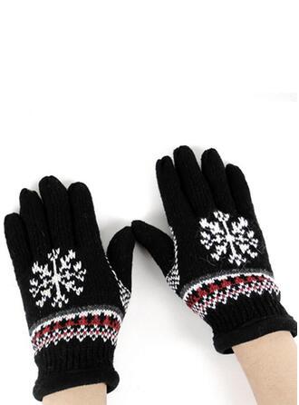 Blommig/Jul enkel/Full täckning/Jul Handskar