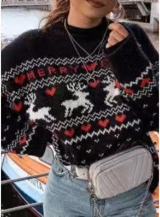 Djur Round Neck Casual Jul Ugly Christmas Sweater