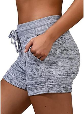 Extra stor storlek Dragsko Ovanför knäet Fritids Sportig Shorts