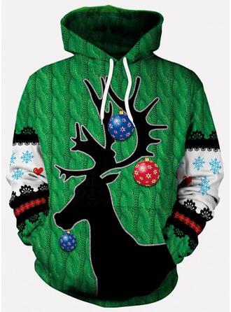 Könsneutrala polyester Ren Ugly Christmas Sweater