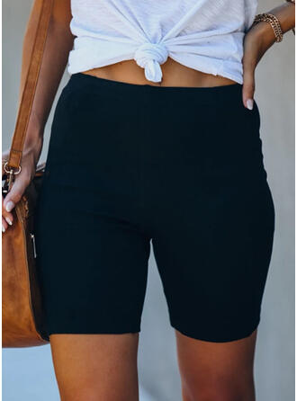 Solid Casual Sporty Shorts