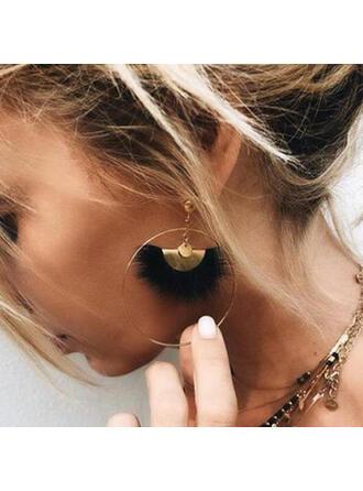 Fashionable Boho Alloy Feather Women's Earrings