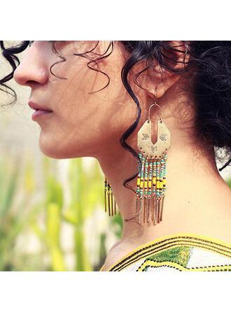 Boho Tassels Design Alloy Beads Women's Earrings