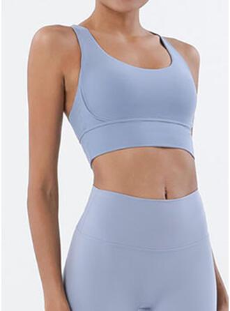 Spandex Nylon Chinlon Plain Sports underwear Moisture wicking