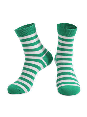 Striped Crew Socks/Unisex/St. Patrick's Day Socks