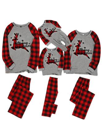 Deer Plaid Family Matching Christmas Pajamas