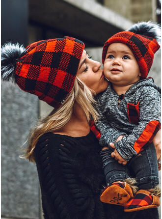 Plaid Warm/Comfortable/Christmas/Family Matching Hats