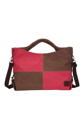 Modern/Enfärgad/Splice Color Tygväskor/Crossbody Väskor