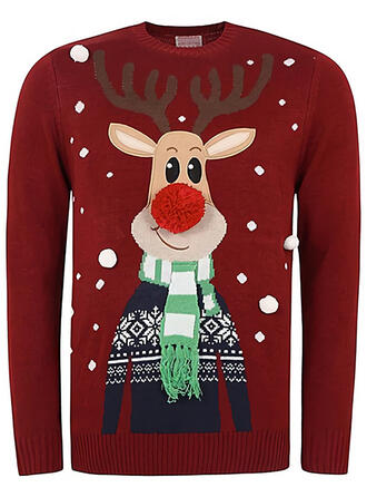 Könsneutrala polyester Print Ren Ugly Christmas Sweater