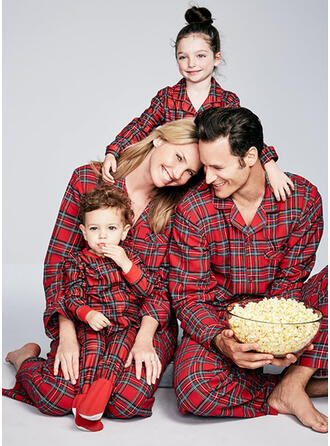 Pläd Matchande familj Jul Pyjamas