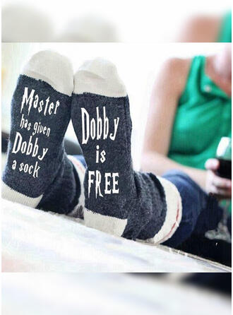 Letter/Print Breathable/Comfortable/Crew Socks/Unisex Socks