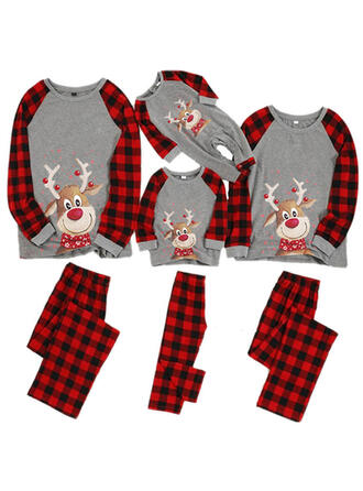 Deer Pläd Matchande familj Jul Pyjamas