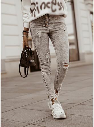 Shirred Rev Elegant Sexig Vinobranie Denim & Jeans