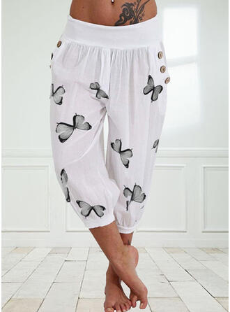 Print Plus Size Casual Print Lounge Pants