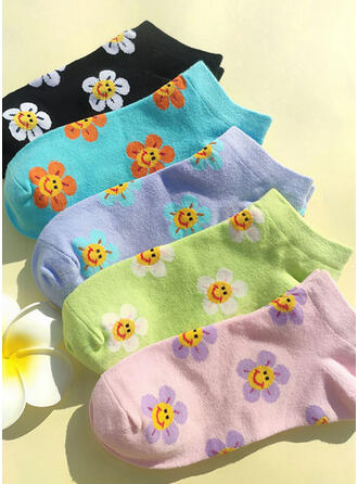 Floral fashion/Ankle Socks Socks (Set of 5 pairs)