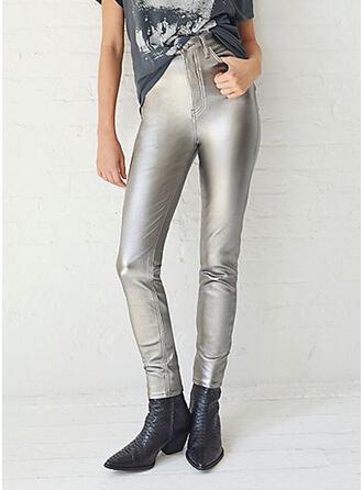Solid Sexy Vintage Leggings