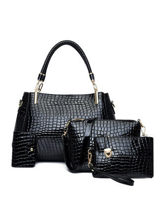 Fashionable/Lichee Pattern/Multi-functional Tote Bags/Crossbody Bags/Bag Sets