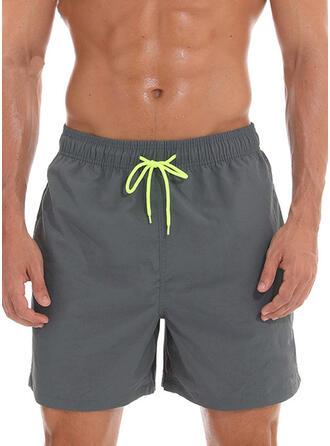 Men's Solid Color Swimsuit
