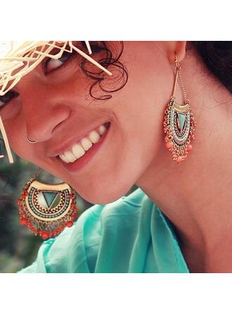 Fashionable Boho Alloy Resin Women's Earrings