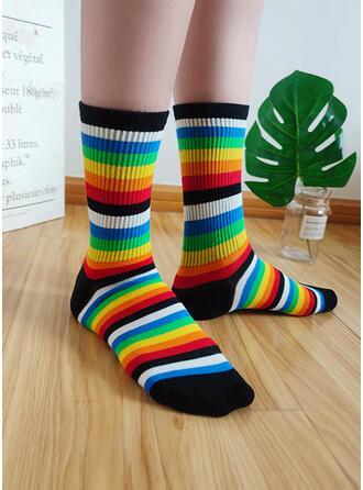 Striped Colorful/Crew Socks Socks