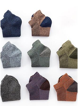 Solid Color/Crochet Multi-color/Ankle Socks Socks (Set of 5 pairs)