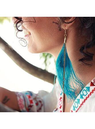 Beautiful Boho Alloy Feather Women's Earrings