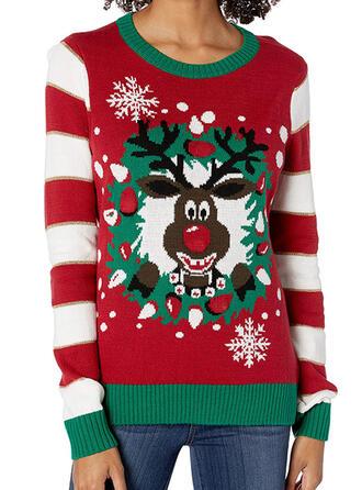 Kvinnor polyester Rand Ren Ugly Christmas Sweater