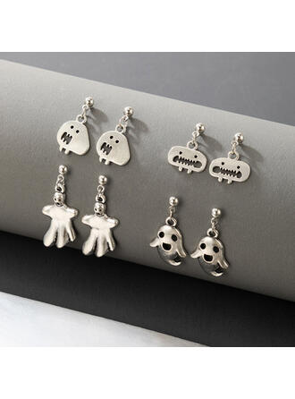 Attractive Charming Artistic Delicate Alloy Women's Ladies' Earrings 4 PCS