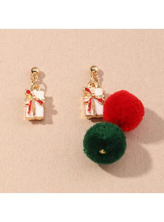 Tofsar Utformning Jul Legering örhängen 2 st