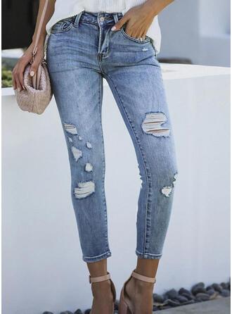 Shirred Rev beskurna Elegant Sexig Denim & Jeans