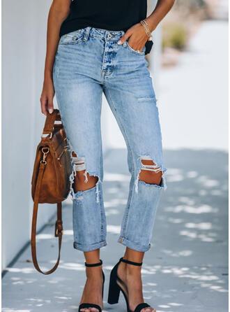 Shirred Rev Elegant Sexig Mager Denim & Jeans