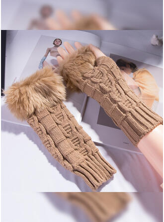 Solid Color/Graphic Prints Color Block/Skin-Friendly Gloves