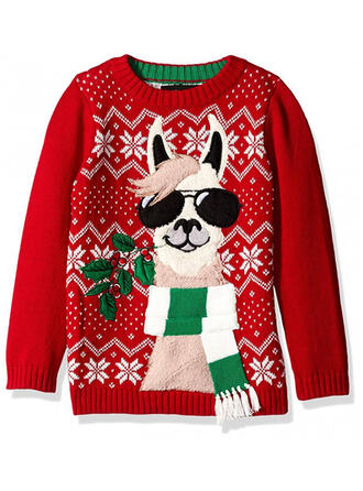 Könsneutrala polyester Animaliska Tryck Ugly Christmas Sweater