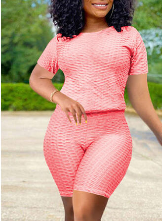 Solid Plus Size Casual Sexy Suits