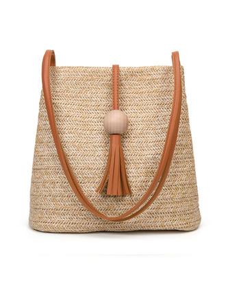 Elegant/Braided Straw Crossbody Bags/Shoulder Bags/Beach Bags/Bucket Bags
