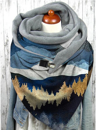Print/Leaves Comfortable/Women's Scarf