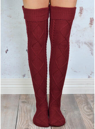 Solid Color Comfortable/Women's/Knee-High Socks Socks/Stockings