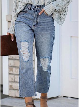 Shirred Rev beskurna Elegant Enkel Denim & Jeans